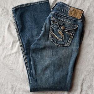 Silver Suki Surplus Bootcut Jeans Size 27/30